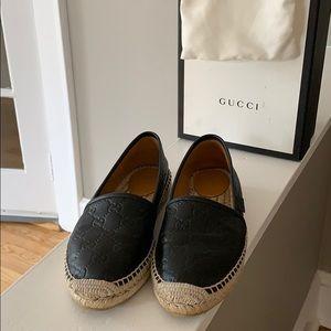 Gucci Black Espadrille  Size 38 or 8